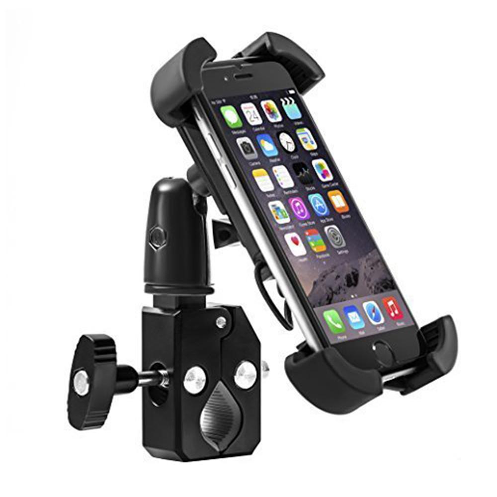 G-Cord Bike Mount & Adjustable Cradle Holder for Most Smartphones Models, Black