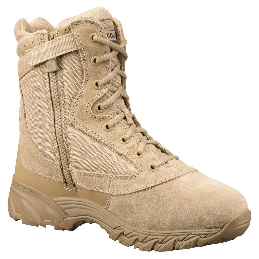 "Original Swat Chase 9"" Side Zipper Mens Tan Durable Uniform Boots 131202"