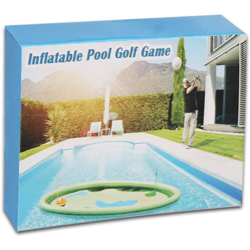 MeiGuiSha 62 in Inflatable Pool Golf Game with 10 Balls, 2 Holes, and 2 Flag