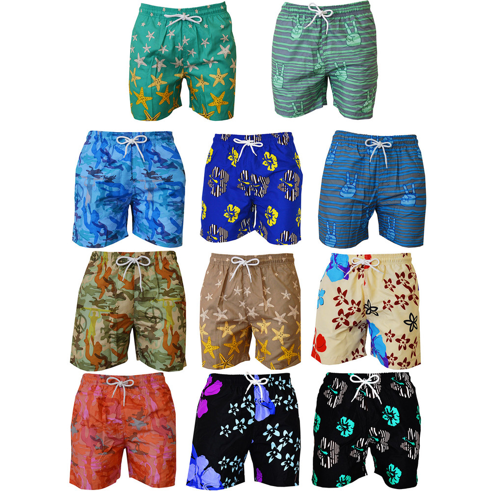 Peace On The Beach Men's Swimming Trunks Surf Board Shorts - Multiple Styles