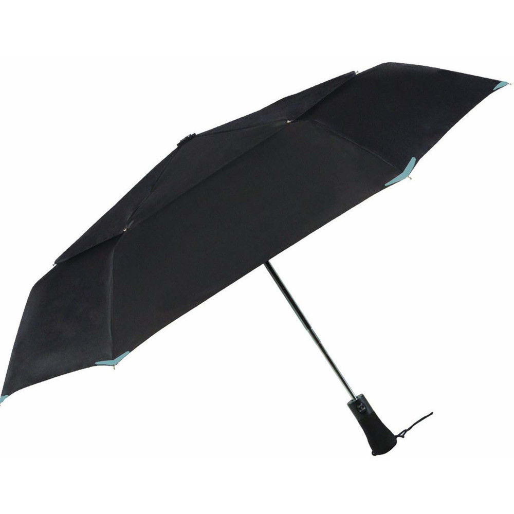 3M Scotchlite Material Automatic Open & Close Reflective Umbrella, Black