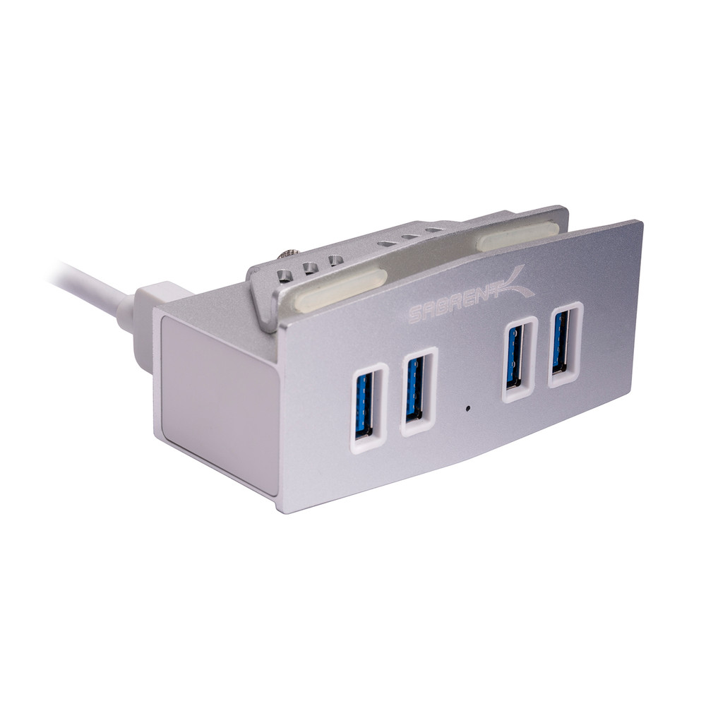 Sabrent HB-MCUS Mountable MAC & PC 4 Port USB 3.0 Hub - Silver