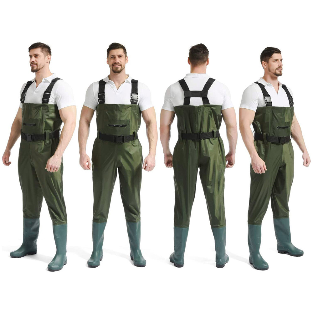Hunting Fishing Waders Fly Fishing Waders for Men Women with Boots, Waterproof Bootfoot Nylon/PVC Wader, Sizes 9-13