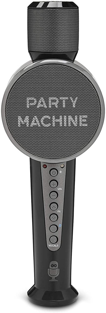 Refurbished Singing Machine Karaoke Machine Microphone with Bluetooth and Speaker for Kids and Adults Home Birthday Party, Black (SMM548)