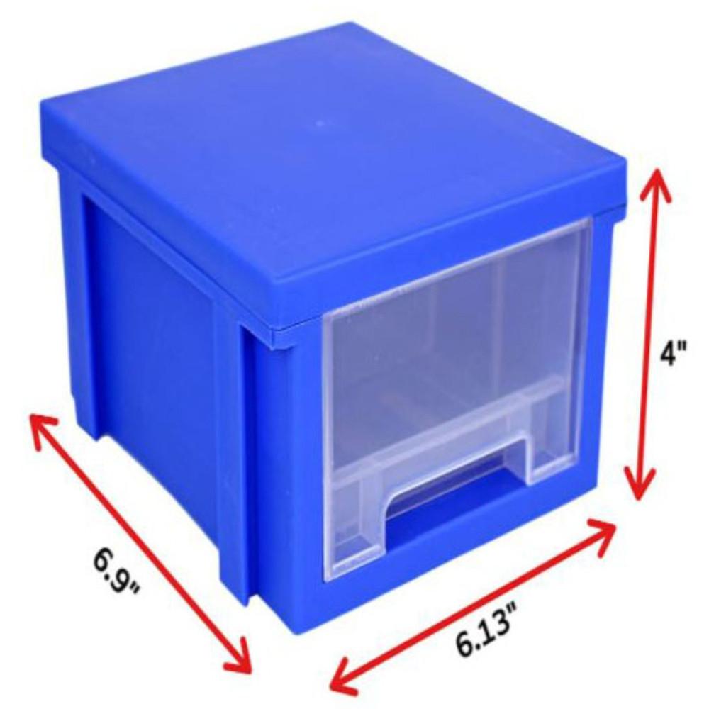 Modular Stackable Expandable Stacking Storage Hardware Organizer Bins w/ Drawers