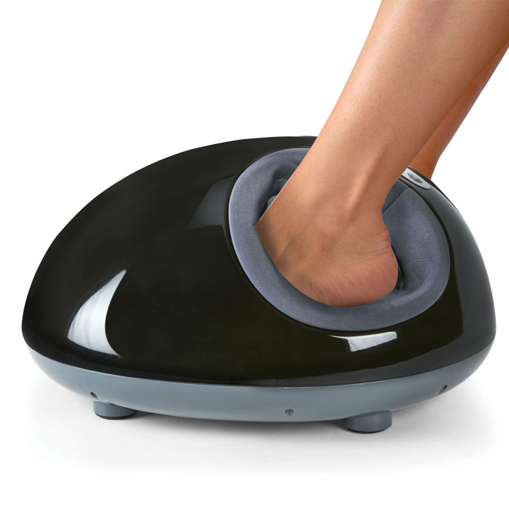 Foot Massager Machine Foot Circulation Massage Adjustable Intensities with Different Massage Massager with Heat, Deep Kneading, Rolling and Air Compression 15034BK