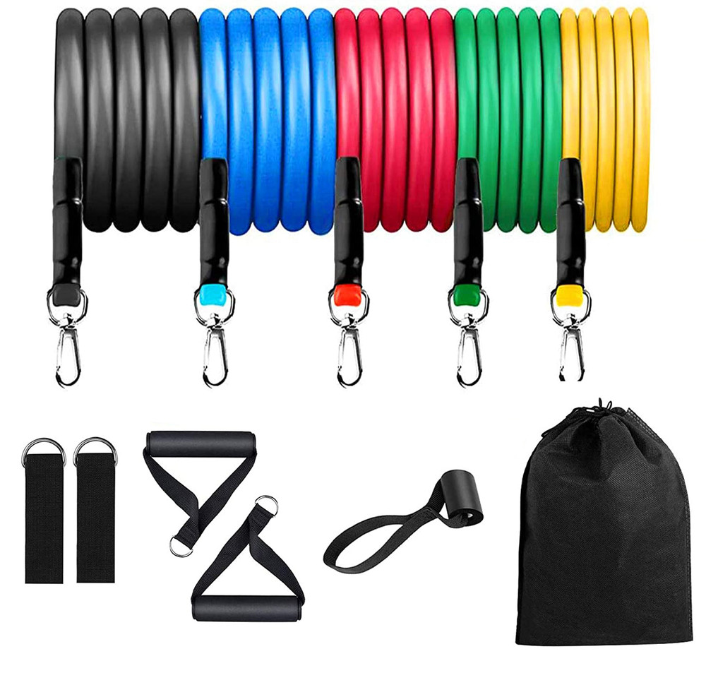 Fitness Resistance Band Set Men Women Heavy Duty Resistance Band Handles Resistance Bands Workout Perfect Muscle Builder for Arms, Back, Leg, Chest, Belly, Glutes 10 pack