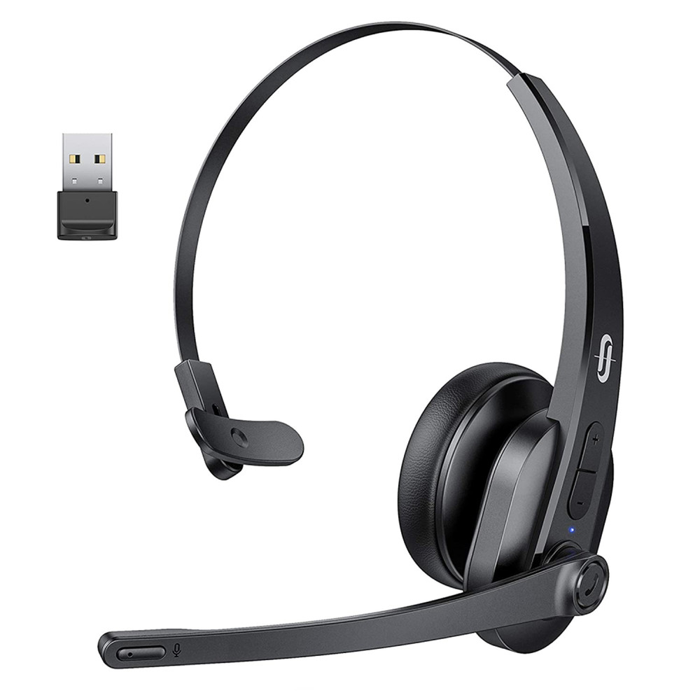 Bluetooth Headset with Microphone Wireless Headset with USB Adapter Noise Cancel
