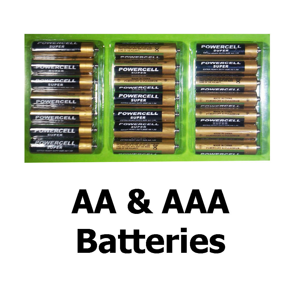 Powercell Super Extra Heavy Duty Size Aa And Aaa 1 5v Batteries
