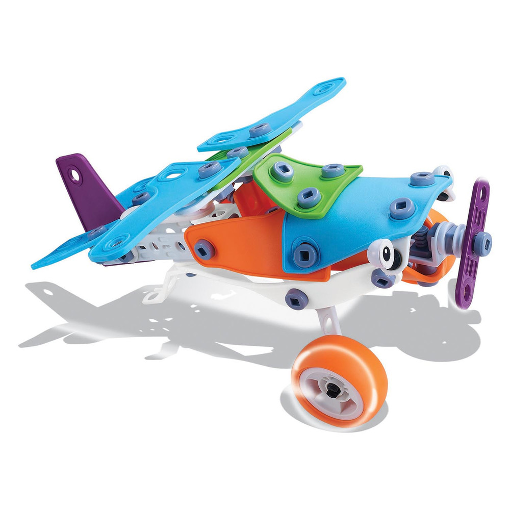Discovery Kids Flex Tech Flexible 3D 5-in-1 Building Material with 148 Pieces