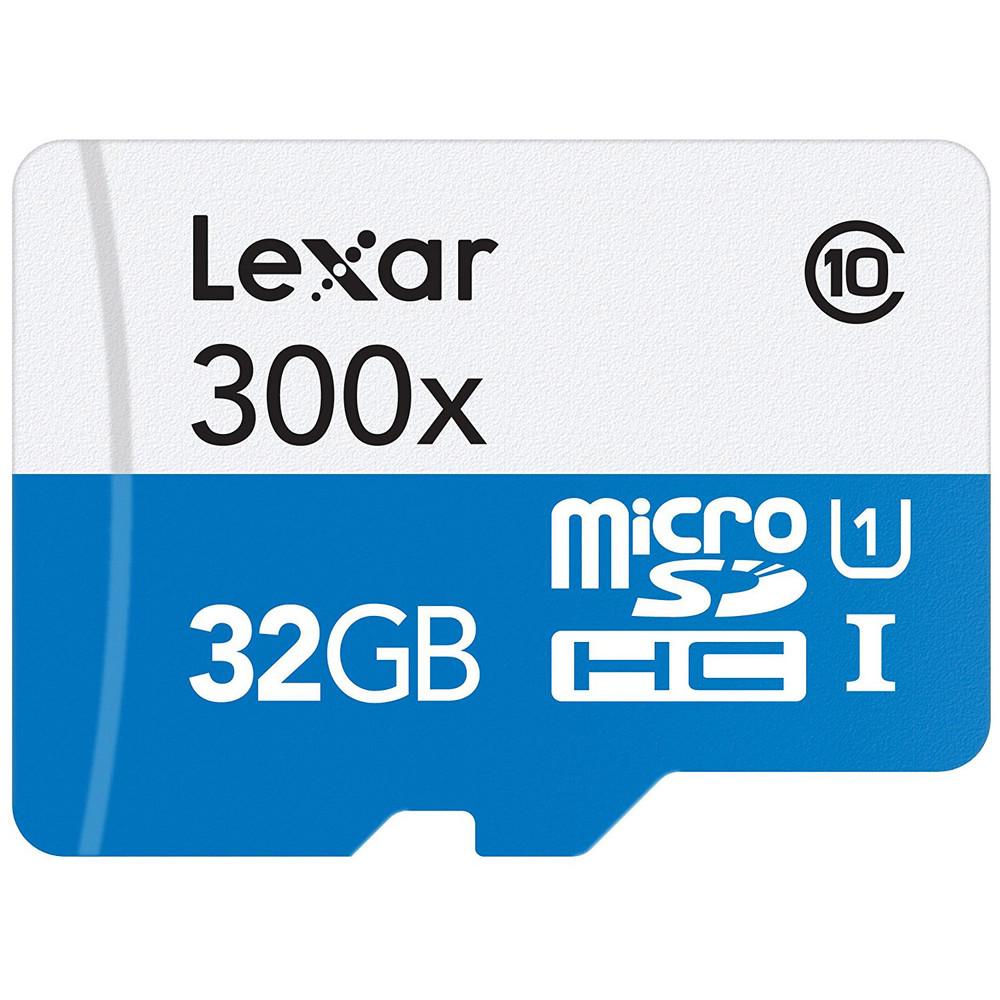 Refurbished (10-Pack) Lexar 32GB High-Performance 300x Class 10 microSDHC UHS-I Memory Card