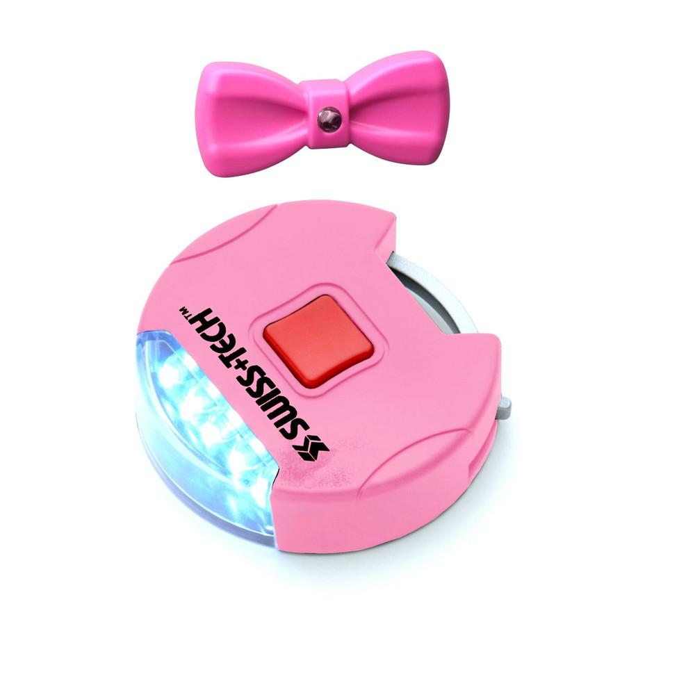 "Swiss+Tech 5 LED Pink Pet Collar and 1"" Dog Leash Lights Set"