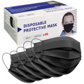 3 PLY Disposable Black Face Covering Mask with Ear Loops 3 Layer
