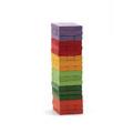 Multi-Color Tumbling Wood Building Blocks Stacking Game 54-Piece Tumble