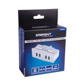 Sabrent HB-MCUS Mountable MAC & PC 4 Port USB 3.0 Hub - Silver