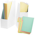 Foldable Magazine File Holders Folders Multicolor Set of 2/4/6 Desk Office Organizer Bookshelf Space Management - Set of 2