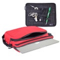 """Cocoon CLS456RD Nylon 13"""" Laptop & Tablet Sleeve w/Grid-It Organization - Red"""