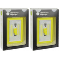 """(2-Pack) Super Bright """"""""Light Switch Shaped""""; Battery Powered LED Indoor Light"""