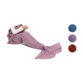 Altatac Mermaid Tail Blanket Knit Crochet Warm & Soft Sofa Blankets for Kids