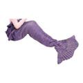 Altatac Mermaid Tail Blanket Knit Crochet Warm & Soft Sofa Blankets for Kids