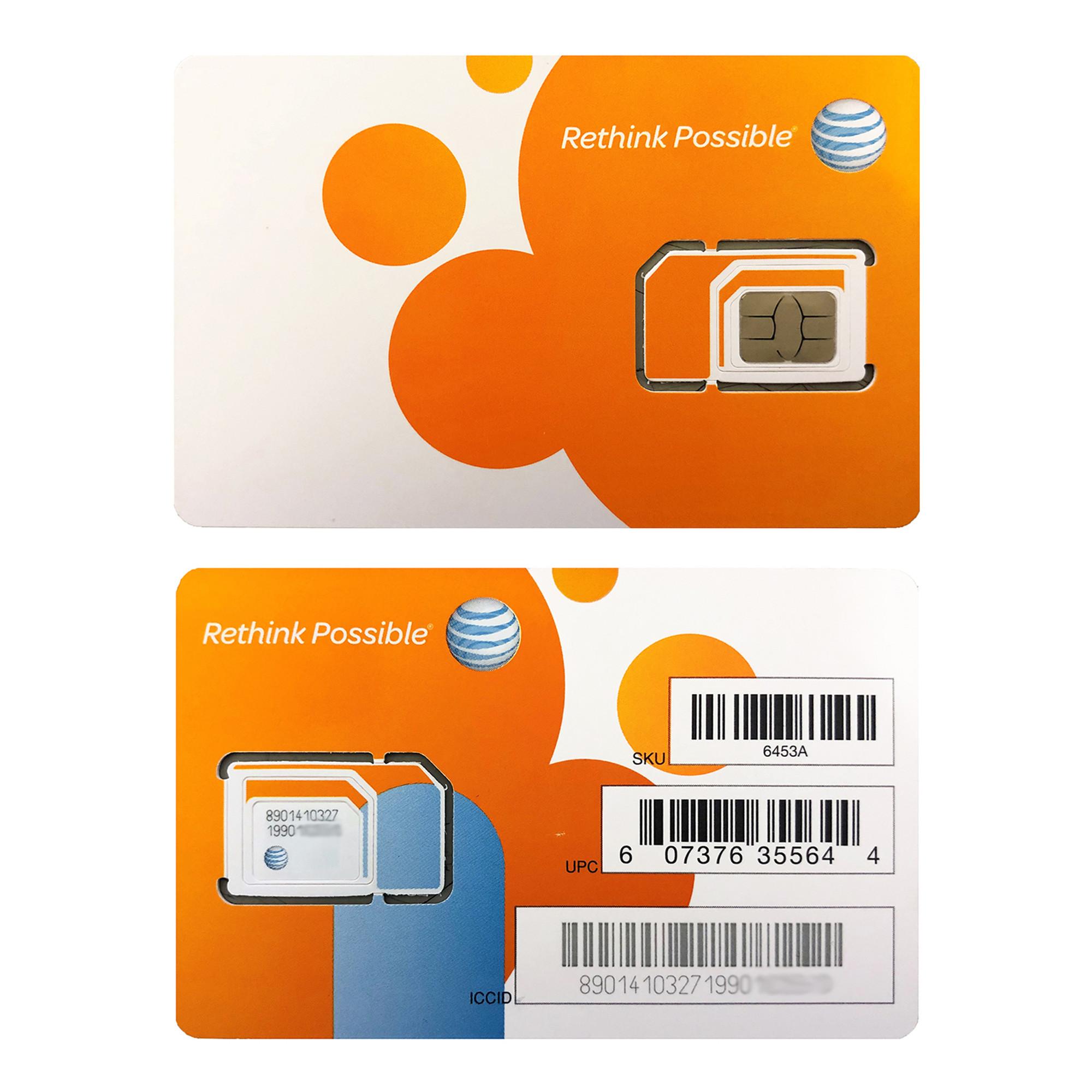 AT\u0026T Triple Cut 4G LTE Sim Card Wholesale Micro Nano Standard