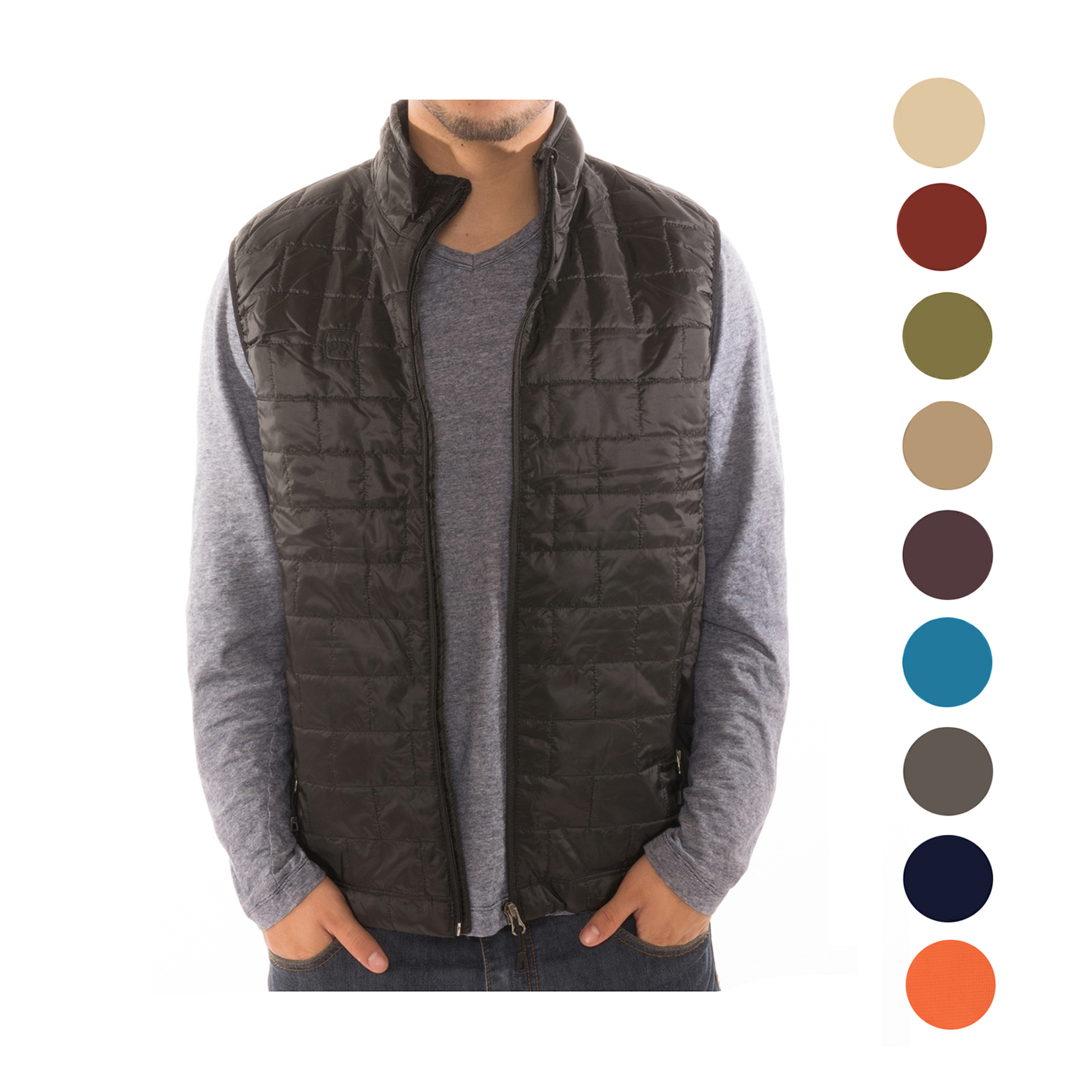 8d330049a457 Men s Puffer Quilted Water Repellent Full Zipper Packable Vest Jacket Coat  - NWT