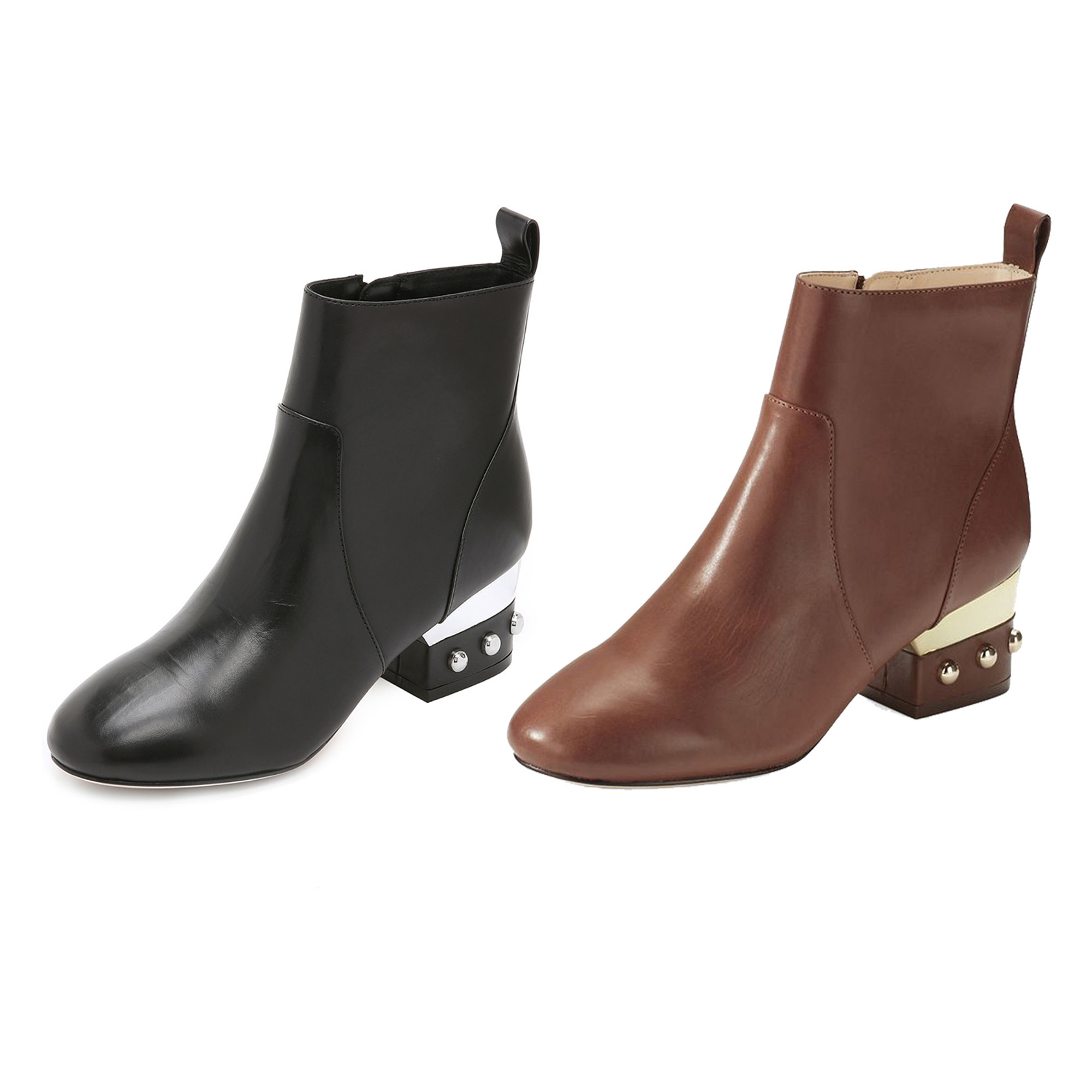 c845ec1cd79 Isa Tapia Women's Hardy Calf Leather Low Block Heel Ankle Boots