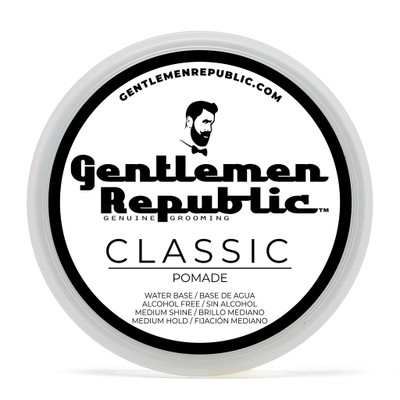 Gentlemen Republic 4oz Grooming Water Based Alcohol Free Classic Hair Pomade