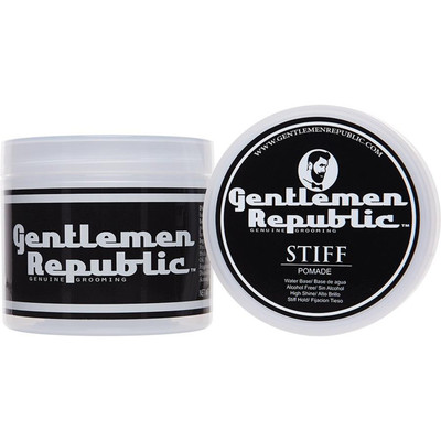 Gentlemen Republic 4oz Grooming Alcohol Free Water Based Stiff Hair Pomade