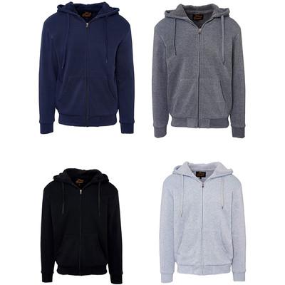 Fresh Groove Men's Soft Sherpa-Lined Fleece Hoodie Sweatshirt
