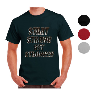 New Balance Men's Start Strong Get Stronger Short Sleeve Crewneck T-Shirt