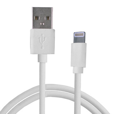 Digital Treasures MFI Apple 3 Foot Lightning to USB Charge & Sync Cable - White