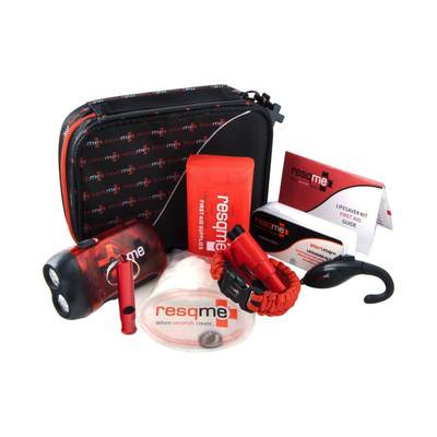 resqme prepareme The Mini Toolbox (57 Piece) Lifesaver Survival First Aid Kit