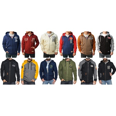 Von Dutch Men's Full-Zip Up Hooded Fleece Sweatshirt