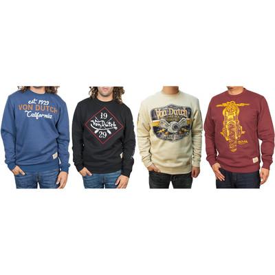 Von Dutch Men's Pullover Long Sleeve Sweatshirt