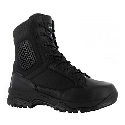 Magnum Mens Strike Force 8.0 SZ WP Side Zip Waterproof Black Boots 5474