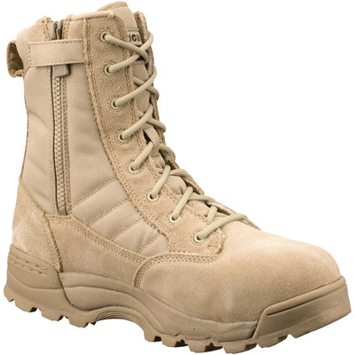 """Original Swat Chase 9"""" Tactical Military Safety Toe Boots Side Zipper TAN 1194"""