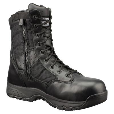 "Original Swat Metro 9"" Waterproof Side Zipper Safety Mens Black Boots 129101"