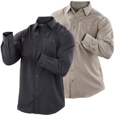 5.11 Tactical Traverse Long Sleeve Shirt w/ Mesh Grid Vent 72390 Black or Khaki