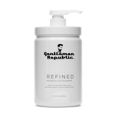 Gentlemen Republic 32oz Grooming Hard Hold & Shine Mold Hair Styling Gel w/ Pump
