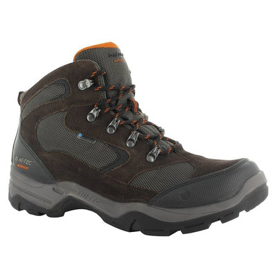 Hi-Tec Mens 52153 Mojave Durable Hiking Boots Dkchocolate/Taupe/Btorang