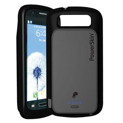 PowerSkin Rechargeable Battery Charger Case for Samsung Express - Black