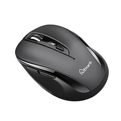 Emarth 2.4G Wireless 5-Button Optical Scroll Mouse 1600 DPI - Grey/Black