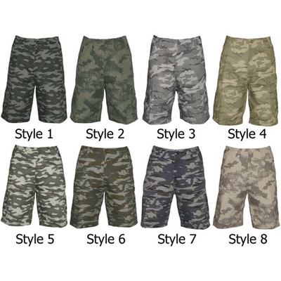 Cargo Army Camouflage Military Tactical Combat Casual Slim Fit Shorts