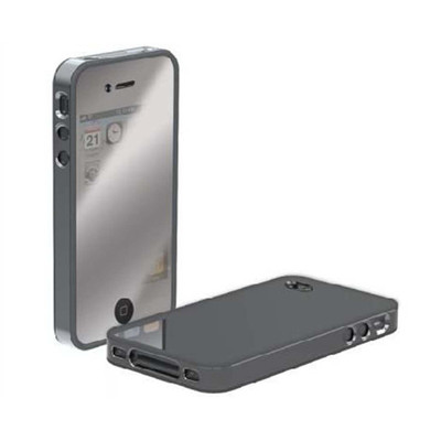 Scosche Chrome Mirrored metalliKASE AT&T iPhone 4 Plastic Case &Screen Protector
