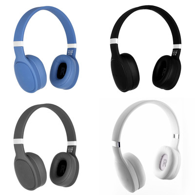 Bluetooth Deep Bass, Comfortable Over-Ear Hi-Fi Wireless Stereo Headphones with Built-In Mic, Charging Cable