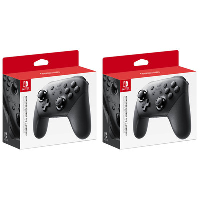 (2 Pack) Nintendo Switch Pro Wireless Game Controller - Black - HACAFSSKA