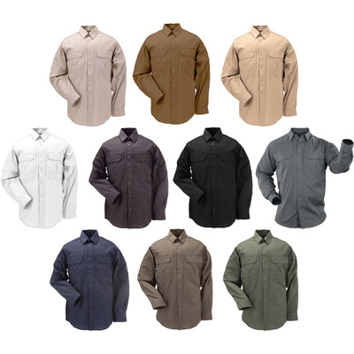 5.11 Men's Taclite Pro Long Sleeve Stain Resistant Poly/Cotton Shirt 72175