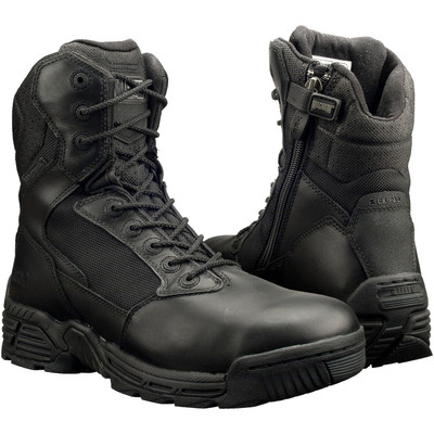"Magnum Mens 8"" STEALTH FORCE 8.0 Side Zip SZ WPI Black Police Army Boots 5870"