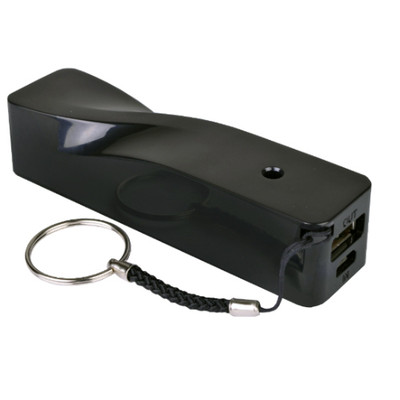 A5 Portable Power Supply Power Bank Charger USB 2.0 2600mAh Black